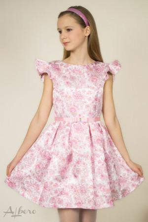 """Платье нарядное с вырезом """"лодочка"""" и встречными складами  Артикул:1044"""