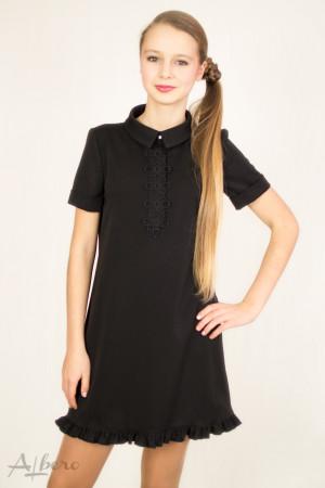 """Платье с планкой """"поло"""" и декором Артикул: 1047"""