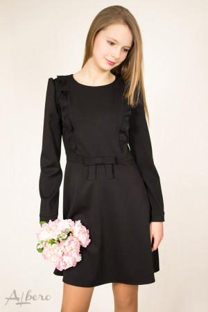 Платье с длинным рукавом и декоративным бантом Артикул:1052