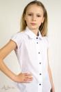 """Блуза с подкройным рукавом-крылышком и воротником """"фестонами"""" Артикул:5011"""