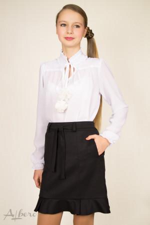 Блуза шифоновая с капелькой и круглой стойкой Артикул:5036