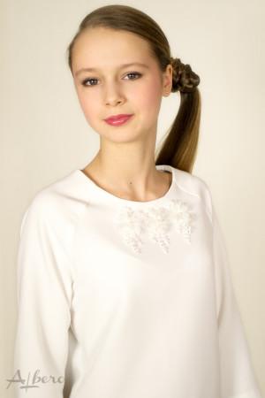 Блуза с рукавом реглан 3/4 и декором Артикул:5038
