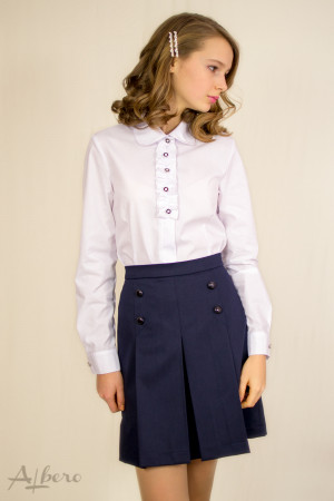 Блуза с декором на планке Артикул: 5043