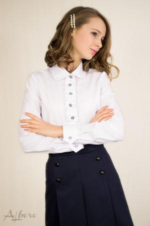 Блуза с декором на планке Артикул:5043