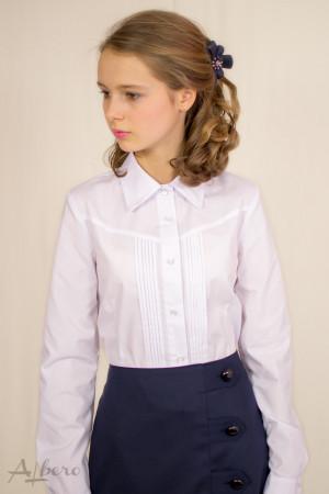 Блуза с защипами и треугольной кокеткой Артикул:5045