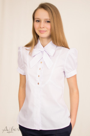 Блуза с круглой кокеткой и бантом  Артикул: 5050