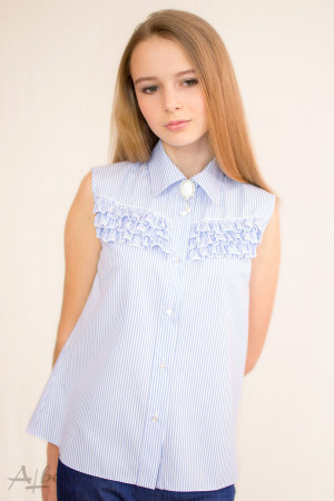 "Блуза ""американка"" в голубую полоску Артикул: 5060"