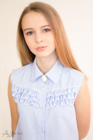 "Блуза ""американка"" в голубую полоску Артикул:5060"