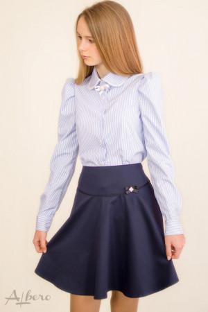 Блуза в полоску с жемчужной отделкой Артикул: 5063