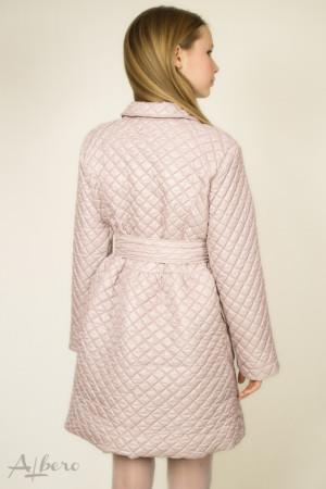 Пальто демисезонное песочно-розовое на кнопках Артикул:7021