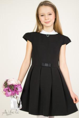 """Платье с вырезом """"лодочка"""", рукавами """"крылышками"""" и встречными складами    Артикул:1019"""