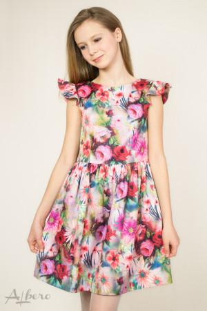 """Платье нарядное с вырезом """"лодочка"""" и """"крылышками"""" Артикул: 1043"""