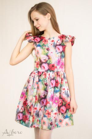 """Платье нарядное с вырезом """"лодочка"""" и """"крылышками"""" Артикул:1043"""