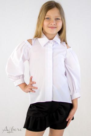 Рубашка с открытыми плечами  Артикул:5095