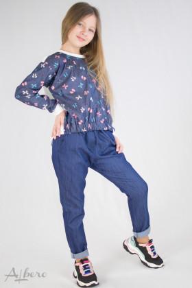 Брюки джинсовые зауженные Артикул:4064