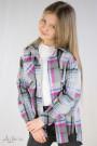 Рубашка клетчатая (серый, синий, малиновый) Артикул:5105