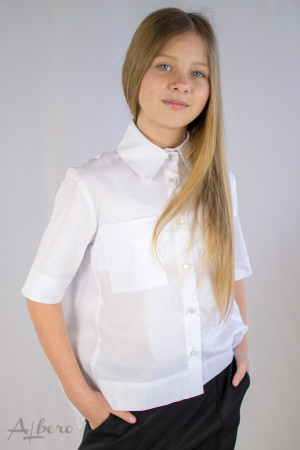 Рубашка с драпировкой по спинке Артикул:5106