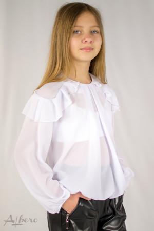 Блуза шифоновая с воланами на плечах Артикул:5109