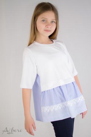 Джемпер-рубашка с коротким рукавом Артикул:6053
