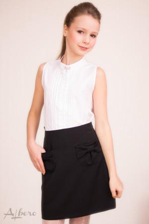"""Блуза """"американка"""" с защипами и декоративной брошью Артикул:5005"""