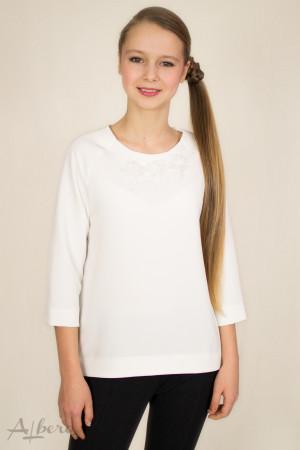 Блуза с рукавом реглан 3/4 и декором Артикул: 5038
