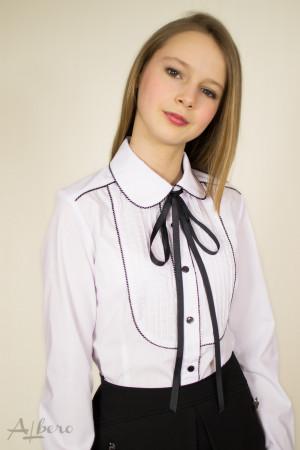 Блуза с контрастным кантом Артикул:5040