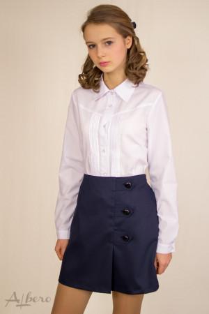 Блуза с защипами и треугольной кокеткой Артикул: 5045