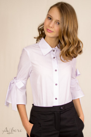 Блуза с бантами на рукавах Артикул: 5047