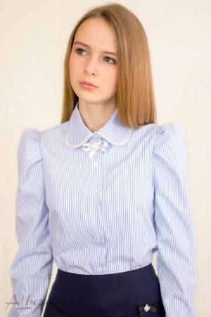 Блуза в полоску с жемчужной отделкой Артикул:5063