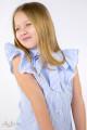 Блуза в голубую полоску с бантом Артикул: 5064