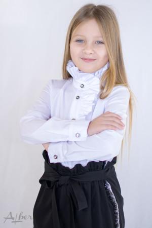 Блуза с высокой стойкой Артикул:5069