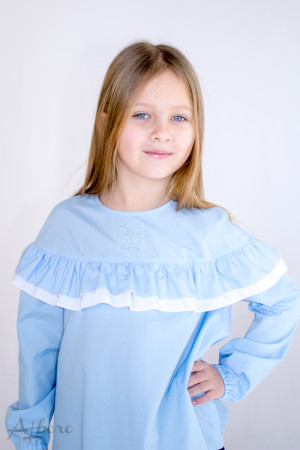 Блуза с двойной оборкой Артикул:5071-B