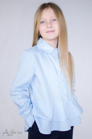 Блуза с двойной баской белая Артикул:5074