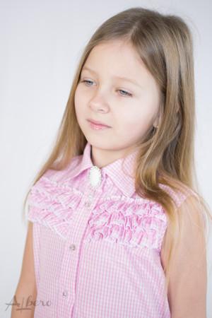"Блуза ""американка"" в розовую клетку Артикул:5079"