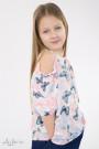 """Блуза шифоновая с открытыми плечами в """"бабочках"""" Артикул:5084"""
