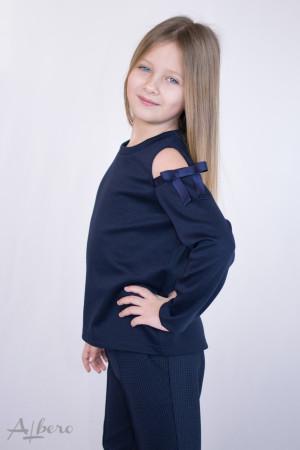 Джемпер с открытыми плечами (синий) Артикул:6035
