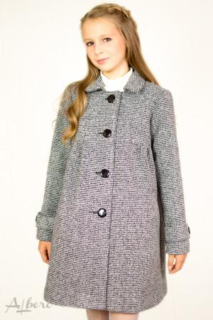 Пальто шерстяное с кокетками, сборкой и патами на рукавах Артикул:7007